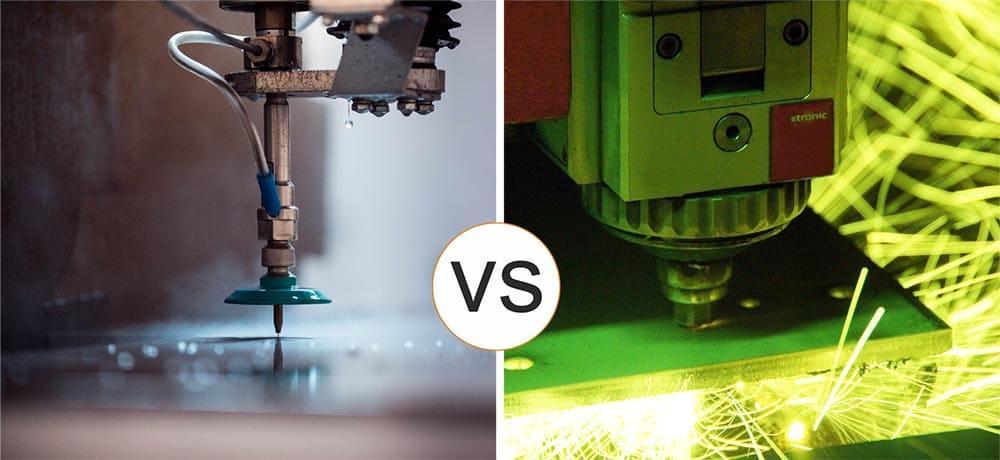 Water-abrasive cutting VS metal laser cutting